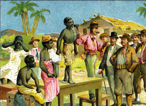 Slaves have NO say in the transaction in which they are bought and sold