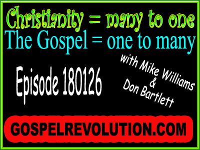 Christianity is many to one, but the gospel is one to many!