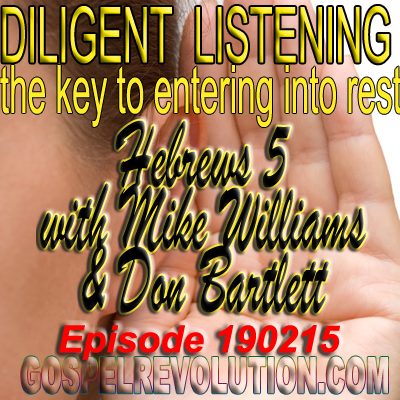 Diligent Listening – the key to entering into rest.